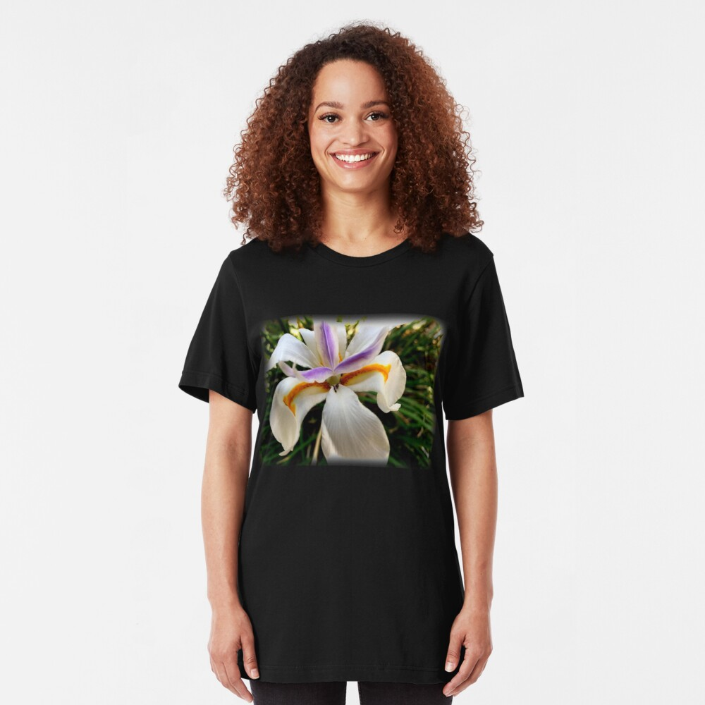 Fortnight Lily (Dietes) from A Gardener's Notebook Slim Fit T-Shirt
