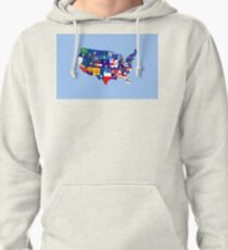 usa states flag map Pullover Hoodie