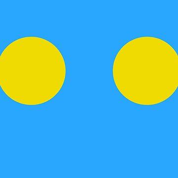 Sky Blue with Sunshine Yellow by ElaphusHouse