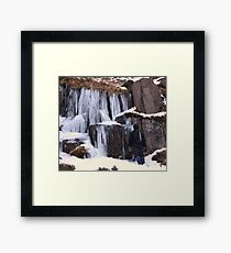 Cold As Ice! Framed Print