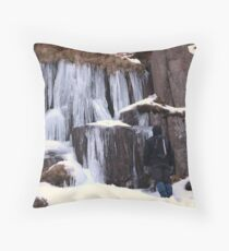 Cold As Ice! Throw Pillow