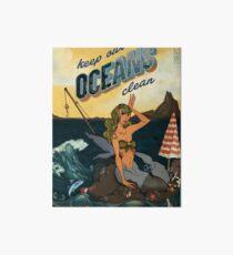 Keep our Oceans Clean Art Board