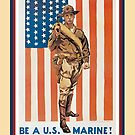 Vintage Be A US Marine by SpiceTree
