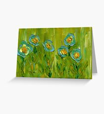 BLUE FLOWERS IN MY GARDEN,  9/11 Greeting Card