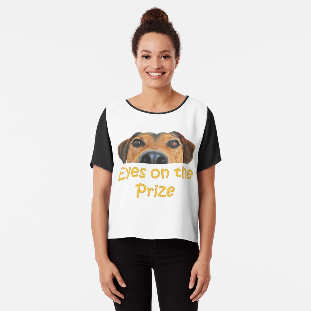 College Student Eyes on the Prize Gift Chiffon Top