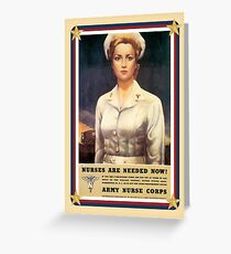 Vintage USA Army Nurse Corps Greeting Card