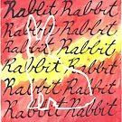Warm Watercolor Ombre Rabbit  by Brandy Sinclair