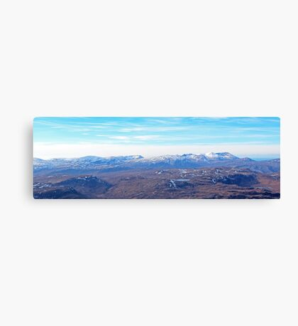Foinaven & Arkle from Ben Hope Canvas Print