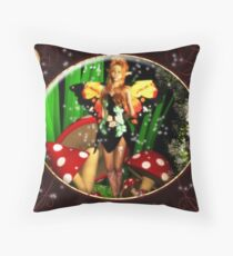 The Singing Faerie Throw Pillow