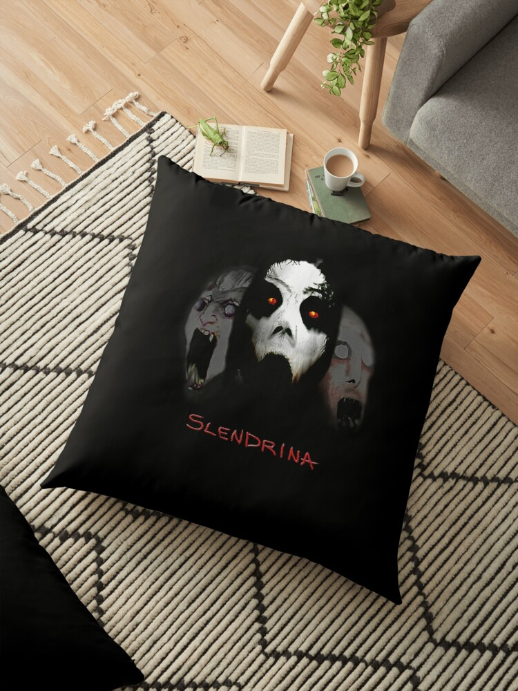 'Inspired by the Mobile Horror Game Slendrina - Granny' Floor Pillow by  Inspired-By