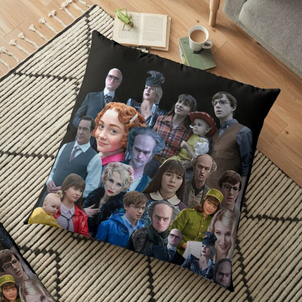 A series of Unfortunate events Mash Up, Packs, Collections, Sets, Montage, Bundle, Collage, Mix, ASOUE season 3 Floor Pillow