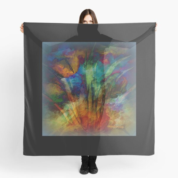 Moody Abstract by Sherri Of Palm Springs Scarf