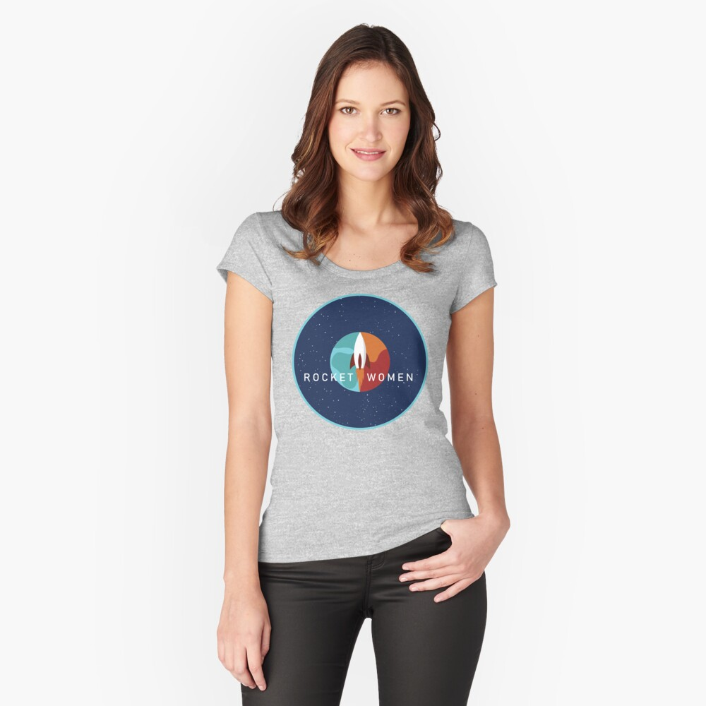 Rocket Women - Space Logo Fitted Scoop T-Shirt