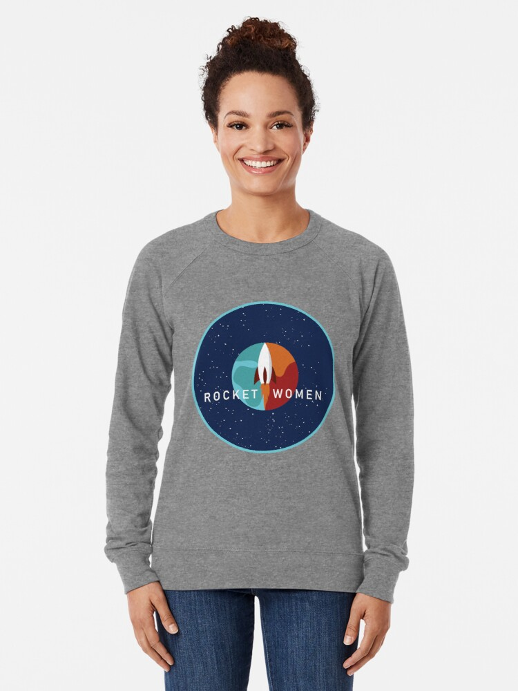Alternate view of Rocket Women - Space Logo Lightweight Sweatshirt