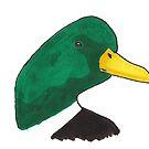 Hand-drawn Mallard Duck Head by WildernessStore