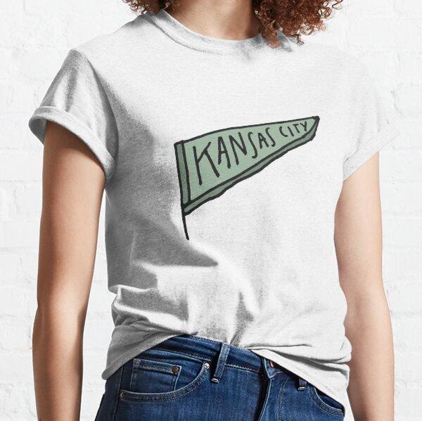 Kansas City hand-drawn pennant - greens Classic T-Shirt