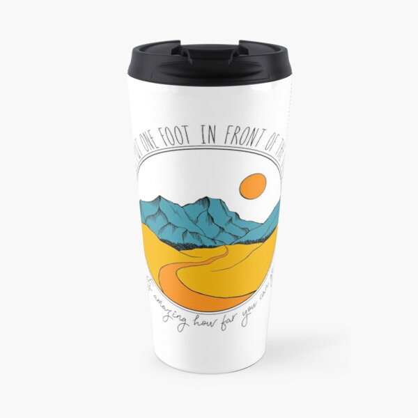 Just put one foot in front of the other (in colour) Travel Mug