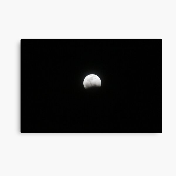 Super Blood Wolf Moon Lunar Eclipse over texas  Canvas Print