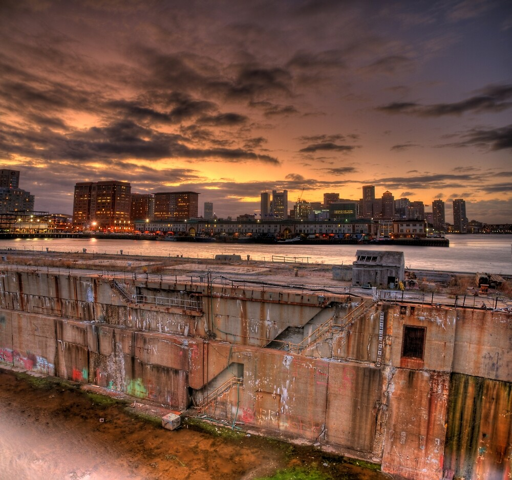 Industrial Sunset, Boston by sburdan