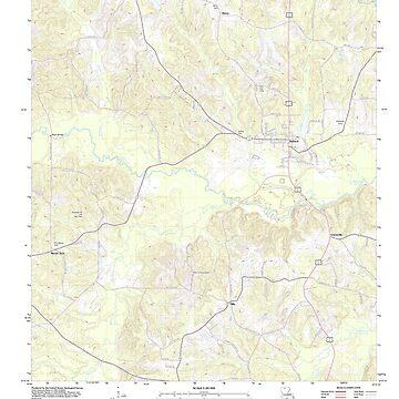 USGS TOPO Map Louisiana LA Dubach 20120413 TM by wetdryvac