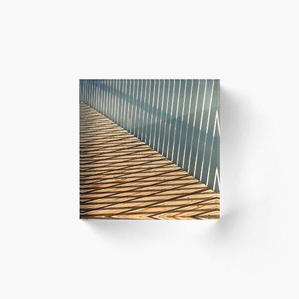 Metal and Wood Acrylic Block