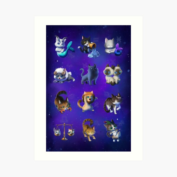 Signes du Zodiaque Impression artistique