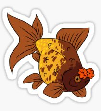Fancy Goldfish - Pompom Sticker