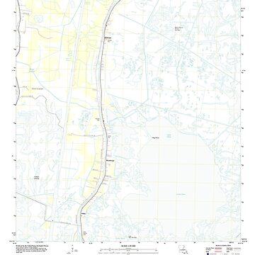 USGS TOPO Map Louisiana LA Dulac 20120326 TM by wetdryvac