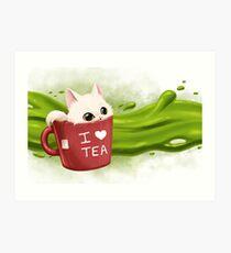 Tea cat Impression artistique