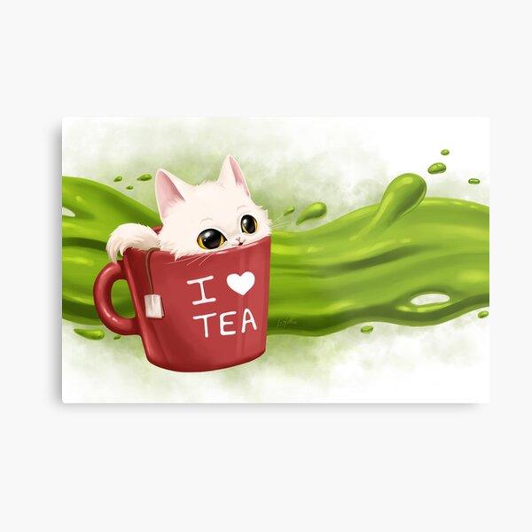 Tea cat Impression métallique