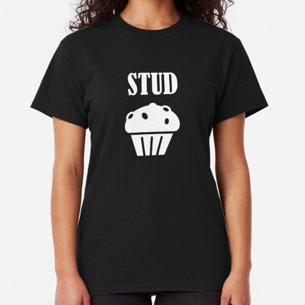 Stud Muffin  Stud Muffin Food Tee Foodie Cupcake Black Basic Men/'s T-Shirt