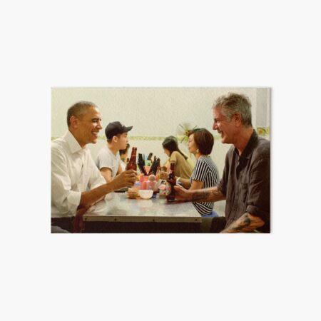 anthony bourdain and barack obama poster Art Board Print
