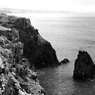 Seascape with monolith by Gaspar Avila