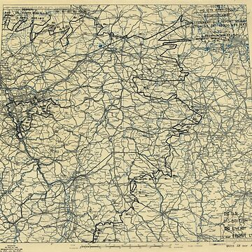 April 13 1945 World War II HQ Twelfth Army Group situation map by allhistory