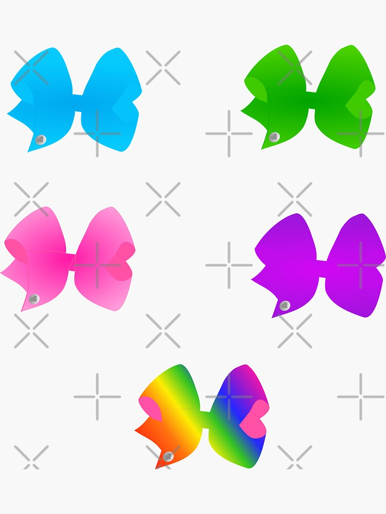 Lots of Big Bright Colorful Bows Set by jpjournals
