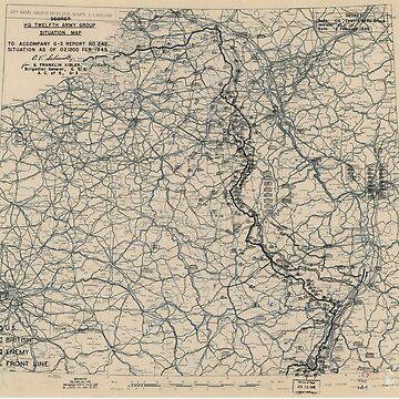 February 2 1945 World War II HQ Twelfth Army Group situation map by allhistory