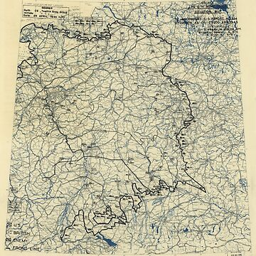 April 25 1945 World War II HQ Twelfth Army Group situation map by allhistory