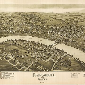 Map of Fairmont and Palatine West Virginia (1897) by allhistory