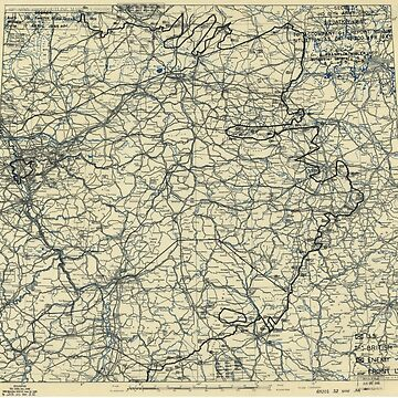 April 17 1945 World War II HQ Twelfth Army Group situation map by allhistory