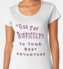 College Student Overcoming Difficulty Women's Premium T-Shirt