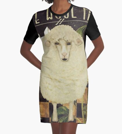 White Wool Vermont Farms Graphic T-Shirt Dress