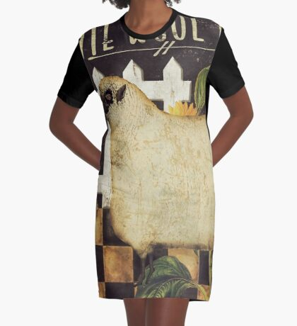 White Wool Vermont Farms II Graphic T-Shirt Dress