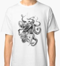 Kraken With Analog Synthesizer Classic T-Shirt