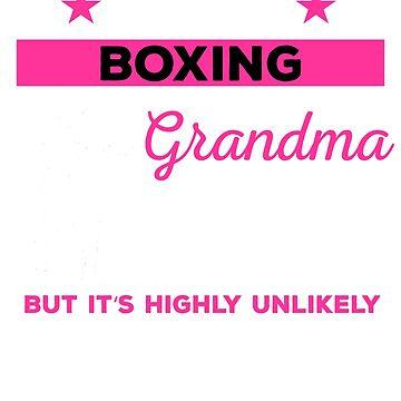 Funny Boxing Grandma Tshirt Gift by mikevdv2001