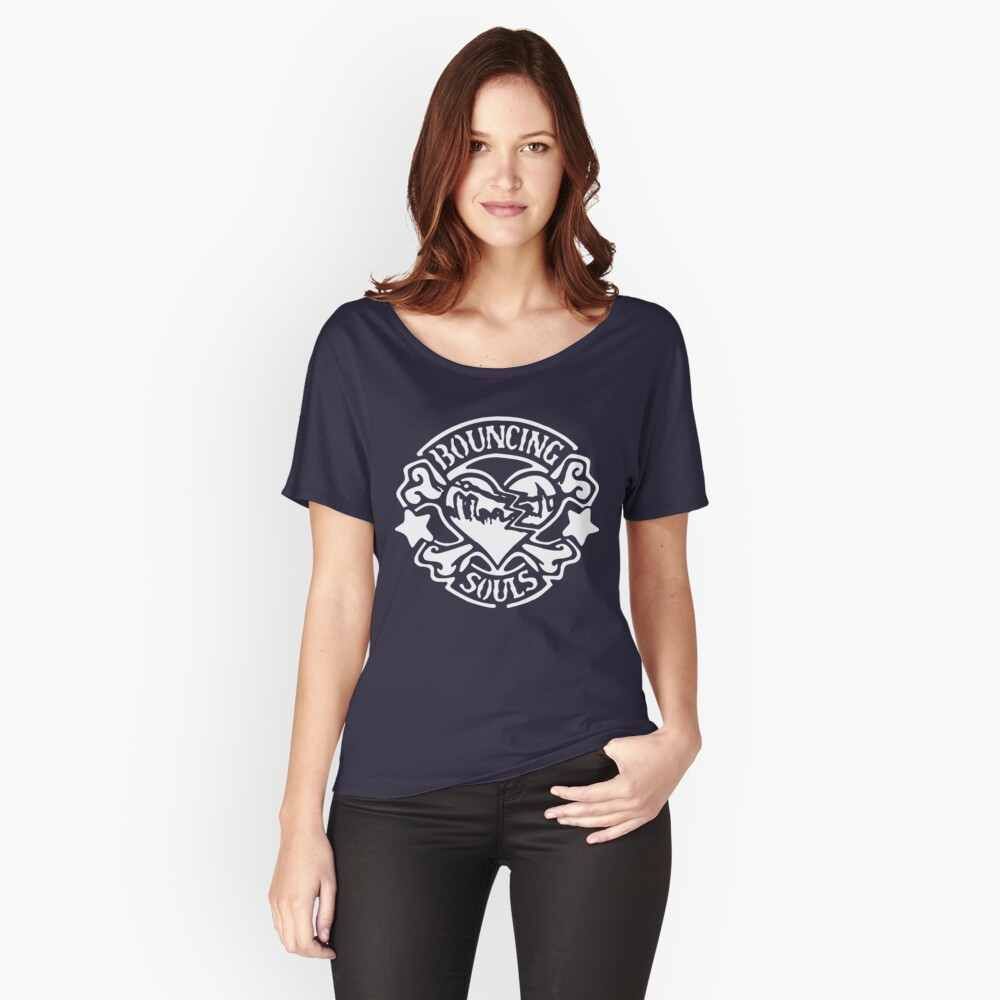 Bandschablone - Weiß Loose Fit T-Shirt