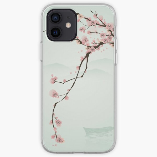 Whimsical Pink Cherry Blossom Tree iPhone Soft Case