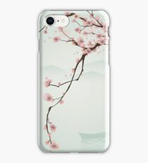Whimsical Pink Cherry Blossom Tree iPhone Case/Skin
