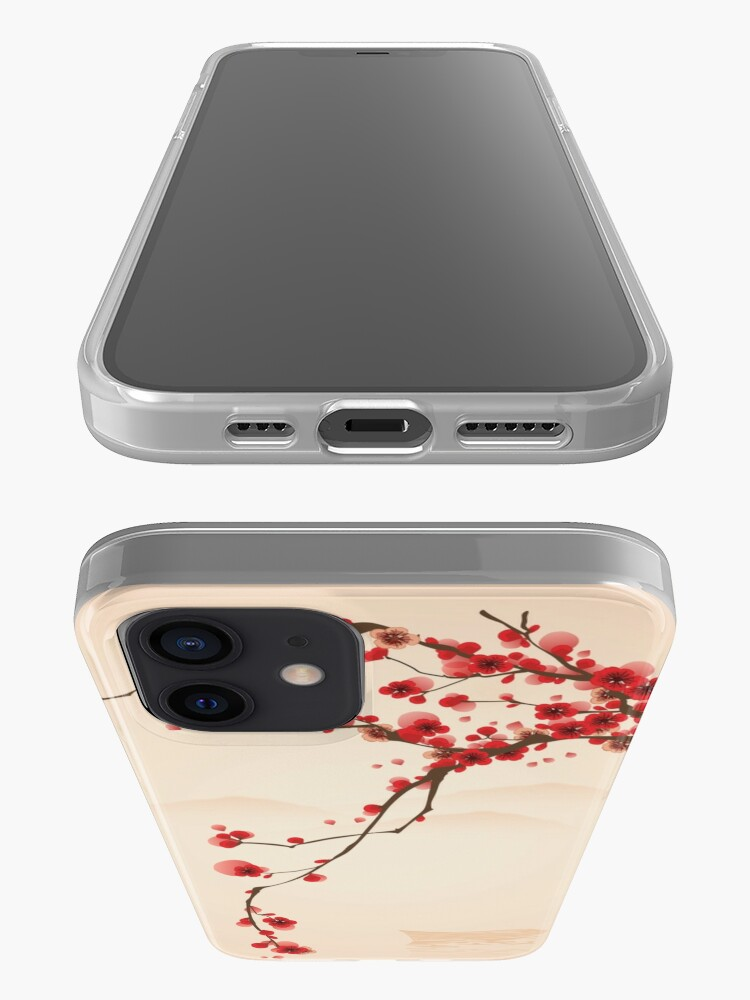 Alternate view of Whimsical Red Cherry Blossom Tree iPhone Case & Cover