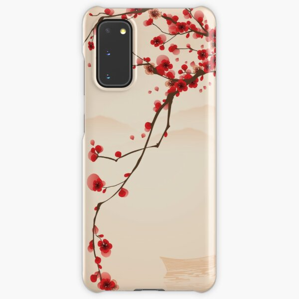Whimsical Red Cherry Blossom Tree Samsung Galaxy Snap Case