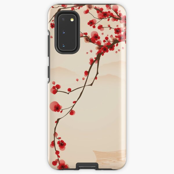 Whimsical Red Cherry Blossom Tree Samsung Galaxy Tough Case